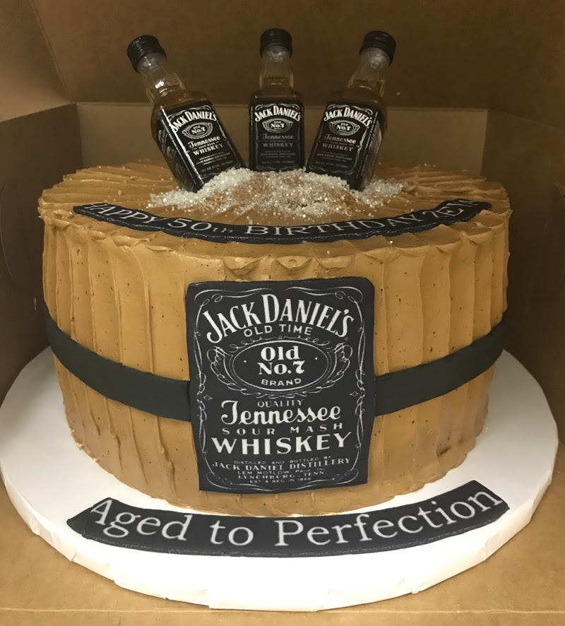 Incredible Jack Daniels Birthday Cake Maes Bakery Funny Birthday Cards Online Alyptdamsfinfo